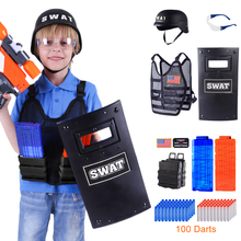 Age 6+ US Boys Adjustable Tactical  Equipment Military Costume Fluorescence Soft Bullet Kit For Nerf N-strike Elite/CS Battle