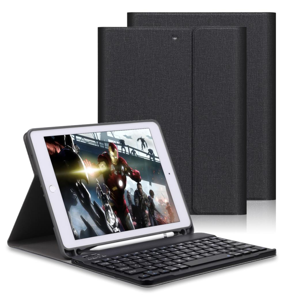 For iPad 2018 9 7 Case Keyboard With Pencil Holder For iPad Air 2 Air 1