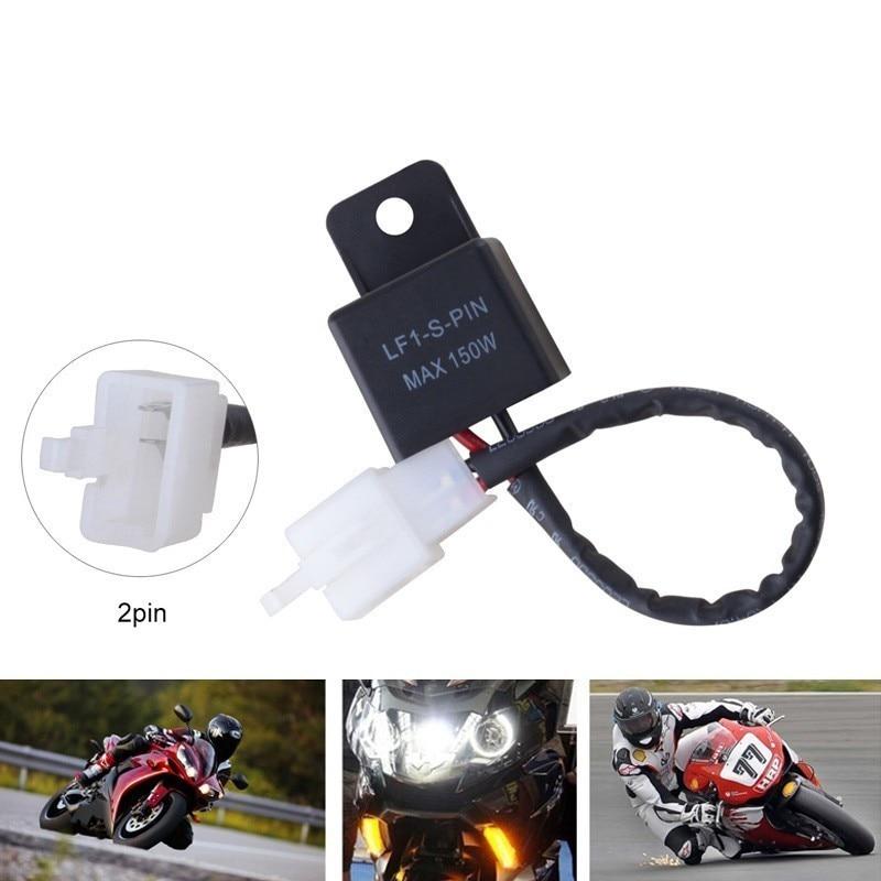 Motocicleta Flasher Terminal Eletrônico Flasher Relé LED Flasher Relé Para Honda Kawasaki Suzuki Motocicletas LEVOU Transformar a Luz
