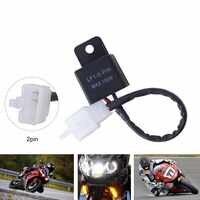 Motorcycle Flasher Terminal Electronic LED Flasher Relay Motorcycles LED Turn Light Flasher Relay For Honda Kawasaki Suzuki