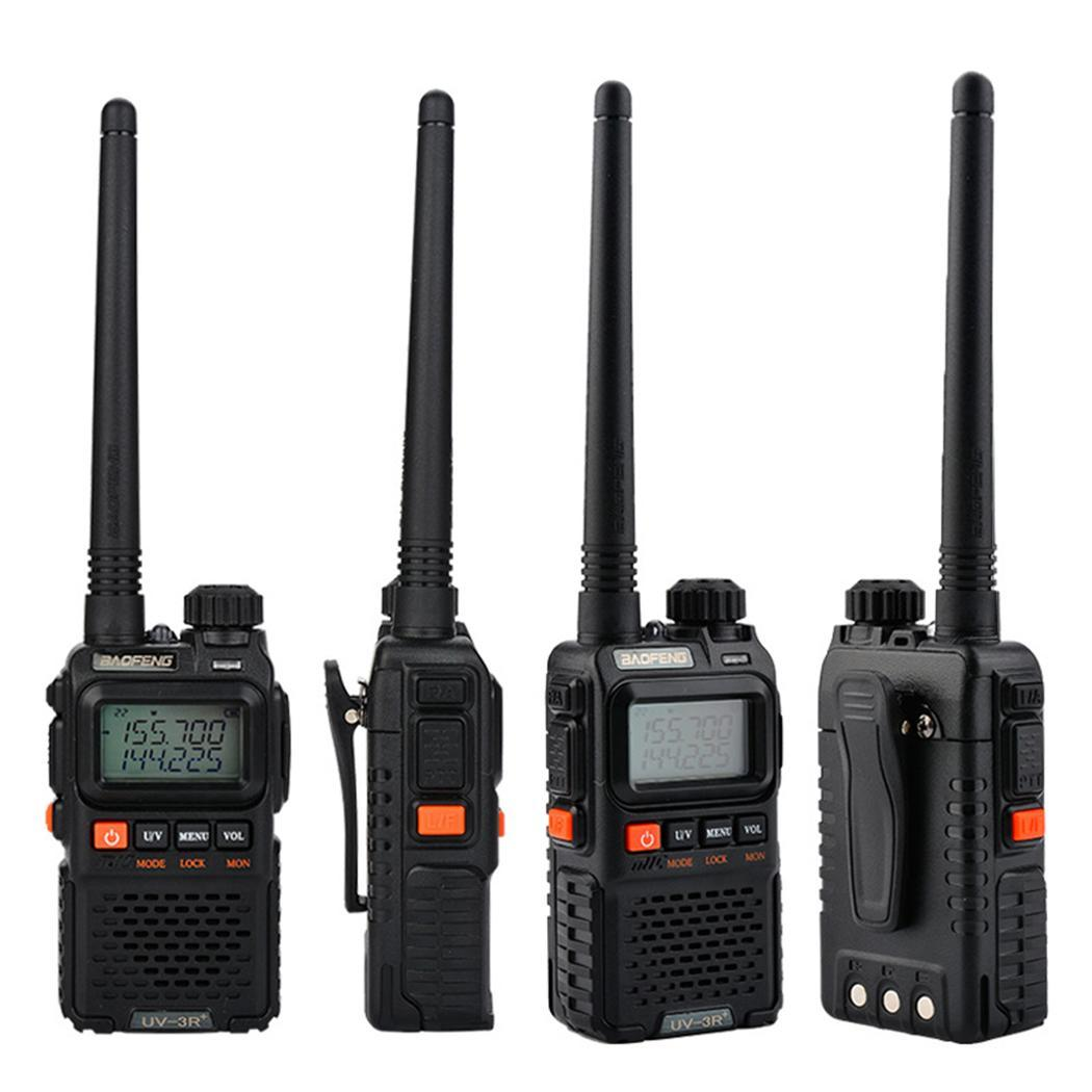 Portable Wireless Two Way Walkie Talkie Radio 1500 MAh 400-470MHz EU, US Plug FM DC 3.7V 1-6KM 3W Transceiver