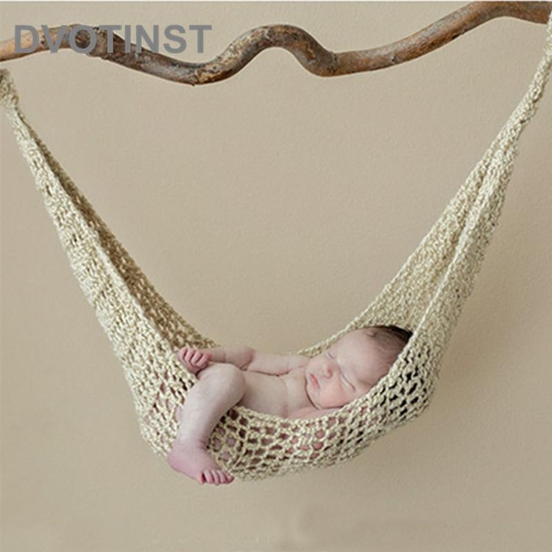 Dvotinst Pasgeboren Fotografie Props Haak Gebreide Baby Hangmat Fotografia Accessoires Bebe Opknoping Bed Studio Shoots Foto Prop