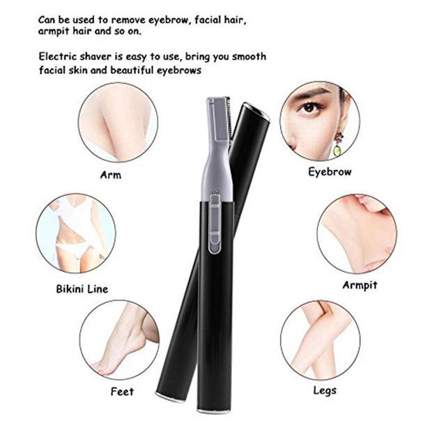 XY Fancy Women Portable Electric Facial Trimmer Shaver Eyebrow Shaper Pen Hair Remover 1