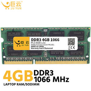 Ju Yun DDR3 4GB 1066 MHz RAM Laptop Memory 1333 1600 MHz Notebook Computer Compatible 2GB 8GB Voltage 1.5v