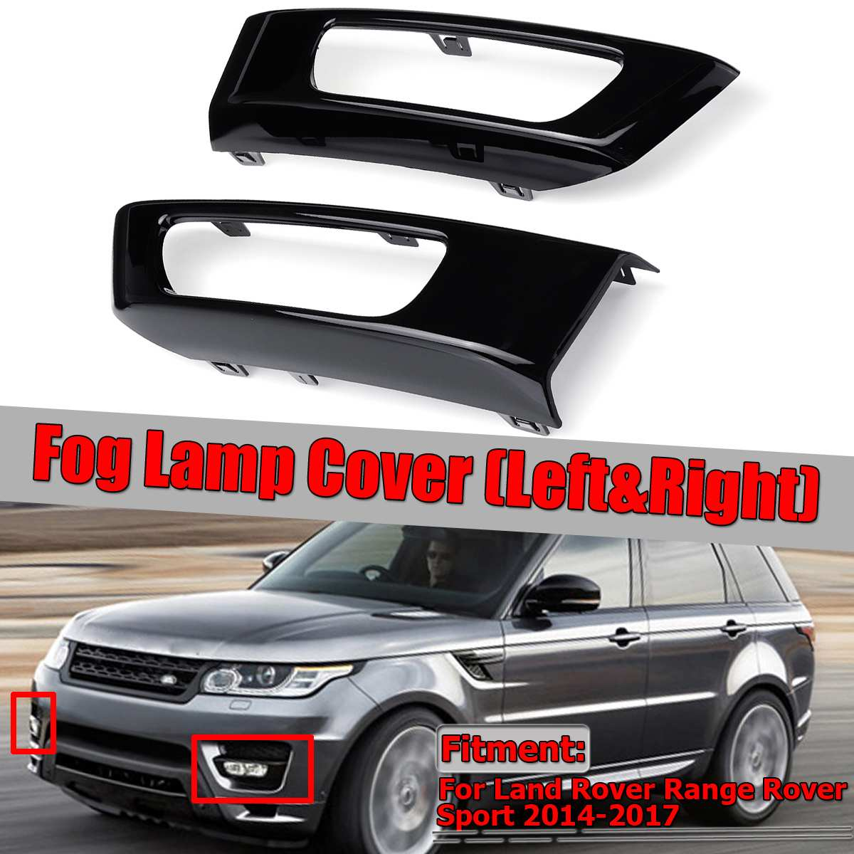2014 Land Rover Range Rover Sport: New Pair Car Front Fog Lamp Cover Trim For Land Rover