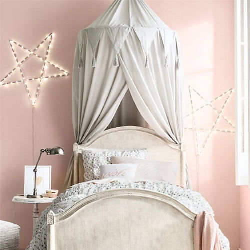US $15.3 40% OFF|New Modern Princess Girl Bed Valance Chiffon Canopy  Mosquito Net Child Play Tent Curtains for Baby Room-in Crib Netting from  Mother & ...