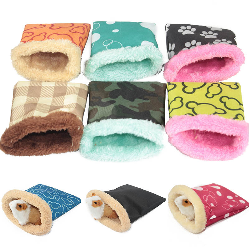Guinea Pig House Warm Plush Sleeping Bag Hamster Bed Small Animals Mouse 1PC Soft Pet Products Hamster Cage Rat Nest