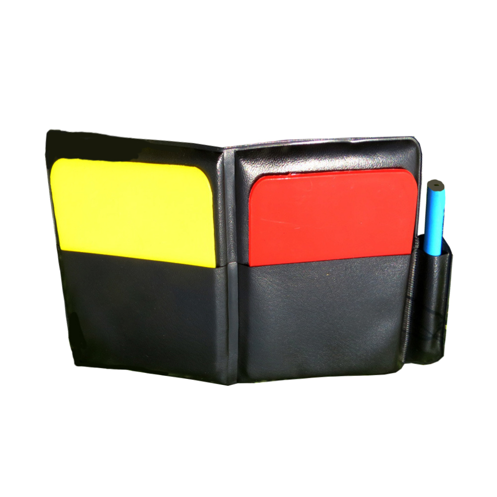 1PC Referee Card Set Professional Portable Easy To Use PVC Red And Yellow Cards Red Card Yellow Card For Referee Football Match