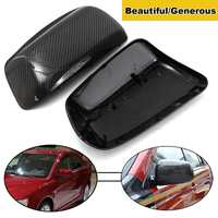2pcs Mirror Cover Caps Premium Genuine Real Carbon Fiber Mirror Side Wing Cover Caps Replacement For Mitsubishi Lancer EVO X 10