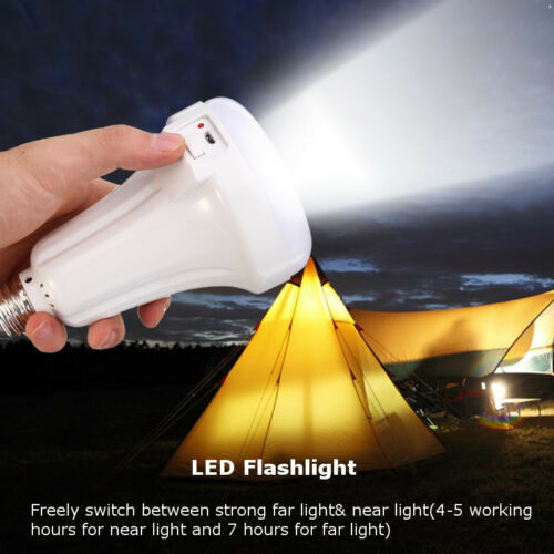 LED E27 Energy Saving Rechargeable Intelligent Lights Bulb Lamp Emergency Top Defense Flashlight Stick Blub