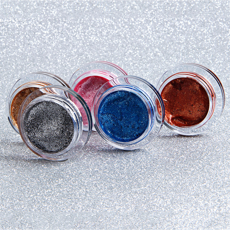 Sale 1PC Highlighter Waterproof Brighten Lasting Long Glitter Cosmetics Jelly Eyeshadow Makeup Tools in Eye Shadow from Beauty Health