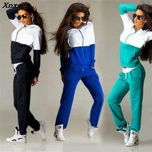 Womens Sports Suits Sexy Tracksuit 2 Piece Set Women Sportswear Jogging Track Suit Sport Two 2018