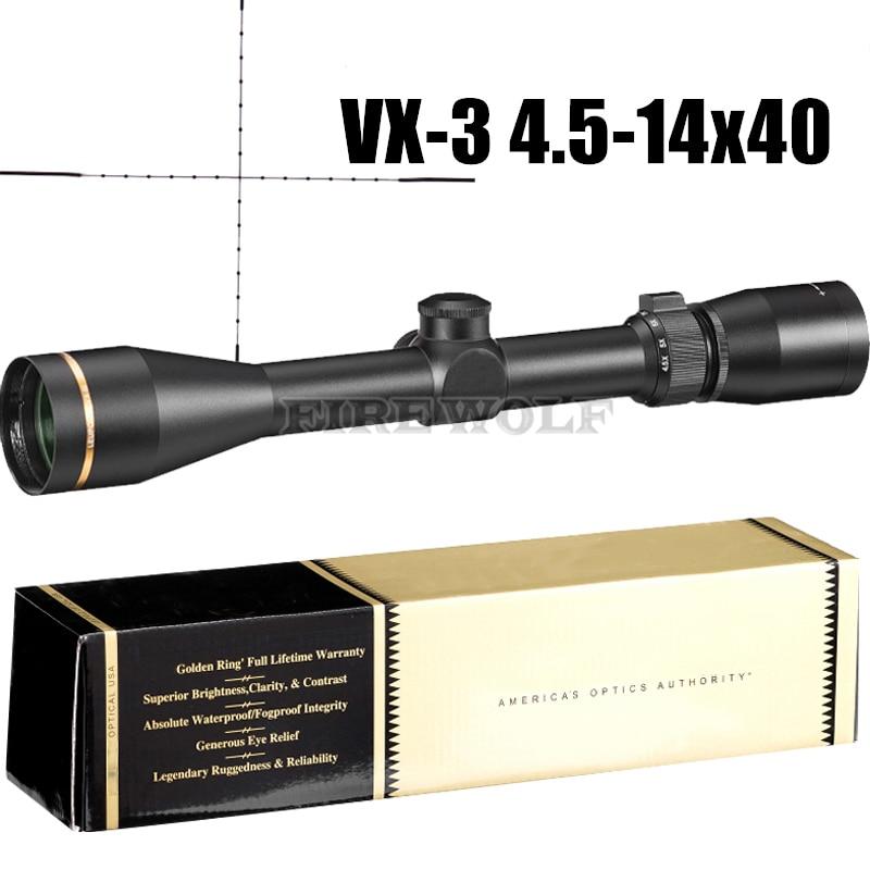 VX-3 4.5-14x40 Mil-dot Riflescopes Rifle Scope Hunting Optics Scope W/ Mounts Red Dot Riflescope Ak 47 2018 new 1 5 5x20 mil dot riflescopes rifle scope hunting scope w mounts