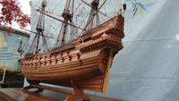 ZHL шведский военный корабль васы весы 1/48 резьба штук дерево груши деревянная модель корабля комплекты