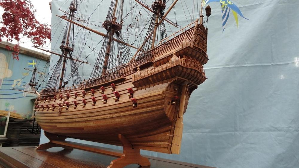 ZHL Swedish Warship Vasa Scale 1/48 Carving Pieces Pear Wood Wooden Model Ship Kits