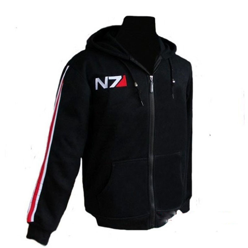 Hot Hoodies Men Sweatshirt Zipper Breasted Mass Effect Tracksuit Cardigan Casual Hooded Sweatshirts Tech Fleece Sweat Hoody