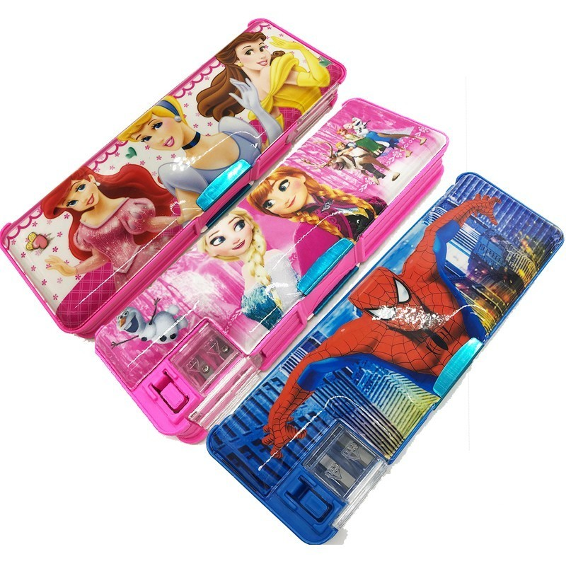 Multifunctional pencil case with pencil sharpener for girl cute plastic student pencil case Escolar Papelaria Chancery in Pencil Cases from Office School Supplies