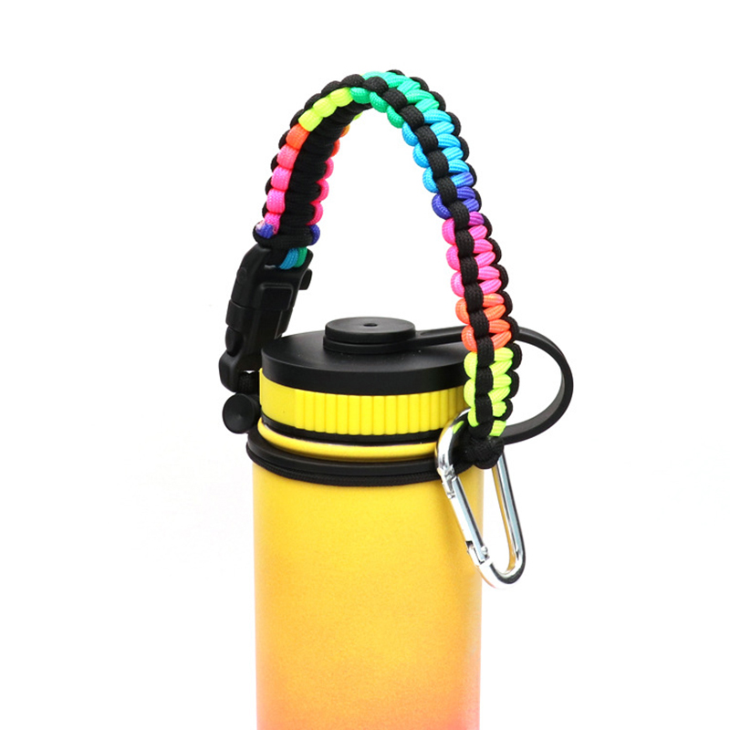 1*Portable Paracord Handle Bottle Strap Cord Safety Decoration Ropes New Universal Fit For Flask Bottles Wide Mouth