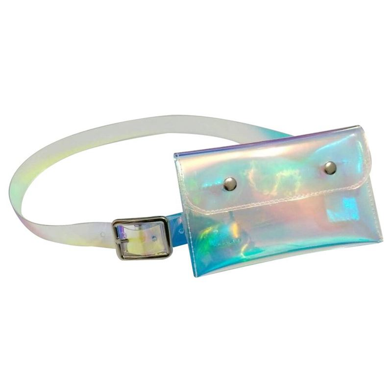 New Spring Solid Color Colorful Plastic Transparent Belt Women Fashion Tide All-match Cool