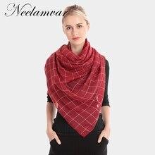 new winter women scarf fashion plaid cotton viscose scarves shawls and wraps soft large size pashmina  foulard hijabs