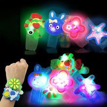 Игрушка для маленьких детей, светящаяся, креативная, светящаяся, мигающая, на запястье, ручная, для танцев, вечеринки, вечерние, для снятия стресса, игрушка, забавный подарок для детей