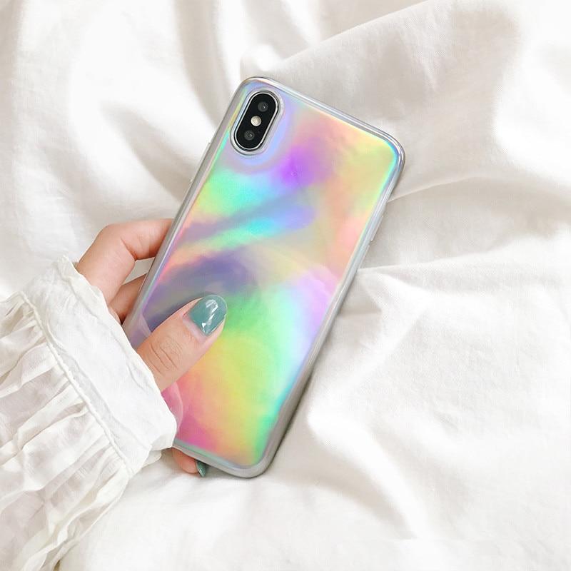 XINDIMAN 2019 Laser Rainbow phone shell 6s case colorful backcover for iphone 7 7plus 6plus 8 8plus fundas IphoneX capa