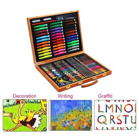 definir criancas presentes aquarela caneta conjunto pintura