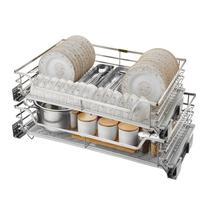 And Storage Kuchnia Pantry Dish Rack Stainless Steel Cuisine Cozinha Cocina Kitchen Cabinet Cestas Para Organizar Basket