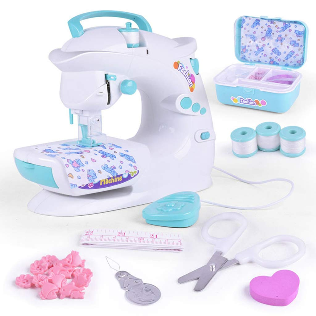 Electronic Mini Sewing Machine Pretend Play Role Playing Game Educational Toys Birthday Gift For Children Kids Toddler