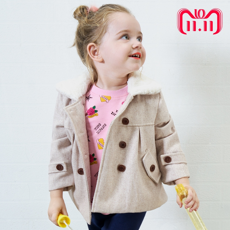 Toddler Hot Sale Rushed Cashmere Baby Little Girls Autumn Winter European And American Style Woolen Solid Colour kids Suit Coat цена