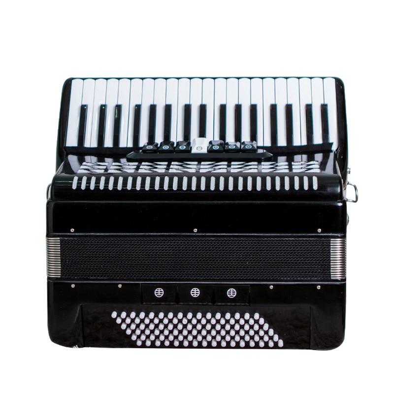 Аккордеон музыкальный инструмент деревянный для взрослых структура 96 басовый аккордеон 37 Ключи