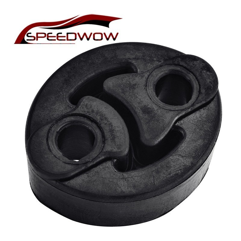 SPEEDWOW Car Accessories Black Exhaust Muffler Hangers Mount Bracket Exhaust Hanger Ring Hanger Bracket Holder Rubber