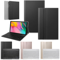Bluetooth Keyboard Case for Samsung Galaxy Tab A 10.1 inch 2019 SM T510 T515 PU Leather Stand Case Wireless Keyboard Cover Skin
