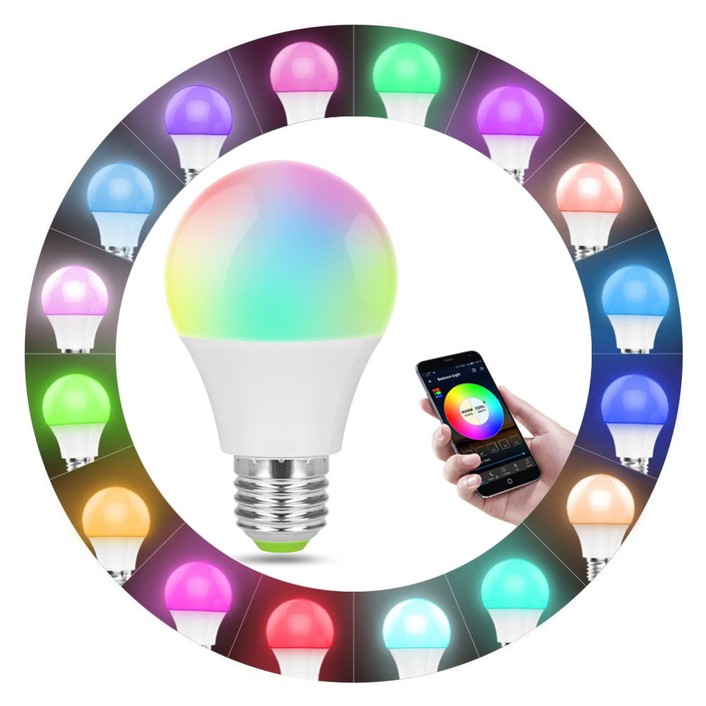 E27 Smart WIFI Light Bulb Multicolor Dimmable Wake-Up LED Lights Compatible with Alexa and Google Assistant WIFI LED Lamp BulbE27 Smart WIFI Light Bulb Multicolor Dimmable Wake-Up LED Lights Compatible with Alexa and Google Assistant WIFI LED Lamp Bulb