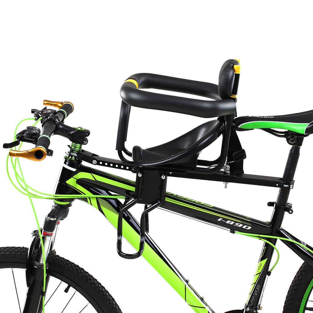 Sicherheit Kinder Fahrrad Sitz Kinder Sattel mit Fuß Pedale Front Baby Sitz Unterstützung Zurück Rest Front Stuhl für 0- 7 jahre alt baby
