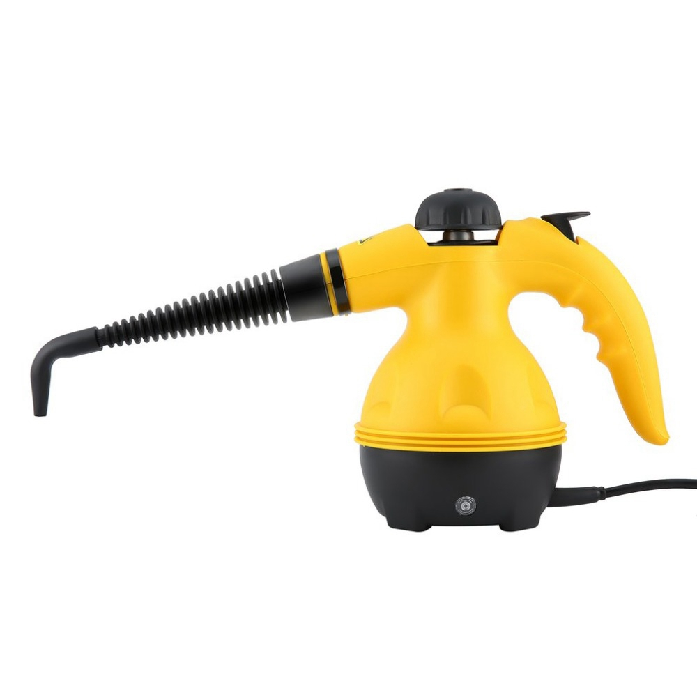Eu Plug,Multi Purpose Electric Steam Cleaner Portable Handheld Steamer Household Cleaner Attachments Kitchen Brush Tool
