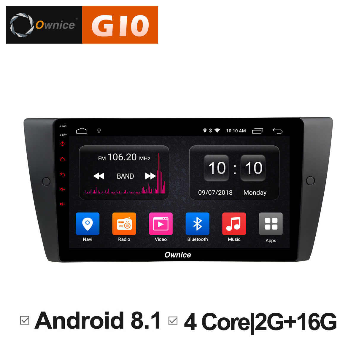 9 Inch Ownice C500 + G10 Auto Multimedia GPS Speler Android 8.1 Octa Core Voor BMW E90 dvd automotivo Radio 2G 4G LTE DVR DAB + TPMS