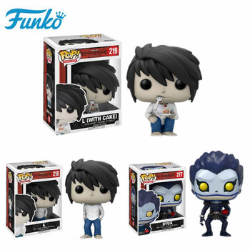 Funko POP Death Note RYUK Lawliet and (with cake) Action Figure Toys for Friend Children Birthday Gift Movie Fans Collection funko pop star wars figure toys darth vader luke skywalker leia action figure toys for friend birthday gift collection for model