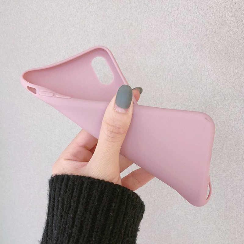 USLION צבעים בוהקים טלפון מקרה עבור iPhone XS 11 פרו Max XR XS מקסימום X רגיל סיליקון כיסוי עבור iPhone 6 6S 7 8 בתוספת רך TPU Case