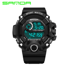Top Brand Sanda Digital Watch Sport G Style Shock Men Watch Waterproof LED Electronic Wristwatch Male Clock Relogio Masculino цена 2017