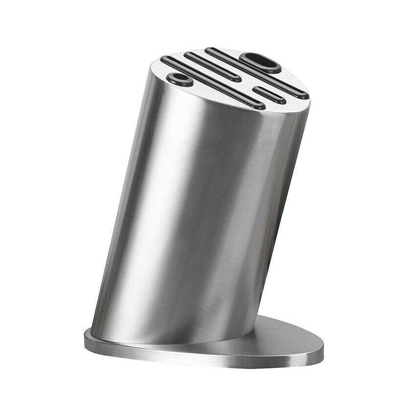 LUDA Knife Block Knives Holder Organizer Storage Block Premium Stainless Steel Knife Rest Shelf Kitchen Tools Accessories