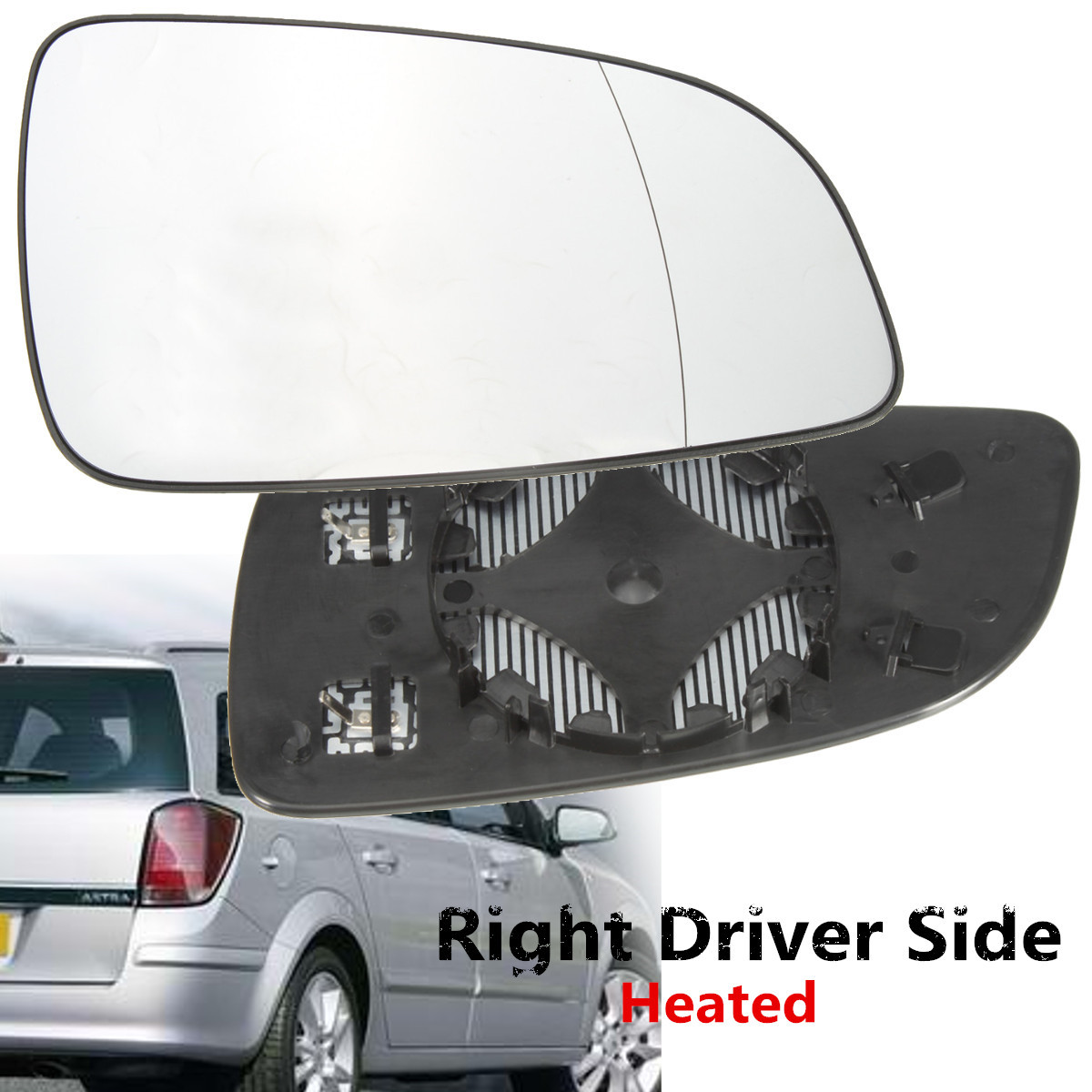 Vauxhall Astra Van 1998 to 2006 RH Door Mirror Glass Manual Type