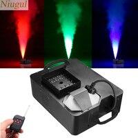 1500W Fog Machine With 24X9W RGB 3IN1 LED Lights/DMX512 Stage Smoke Machine/Professional DJ Bar Wireless Control Vertical Fogger