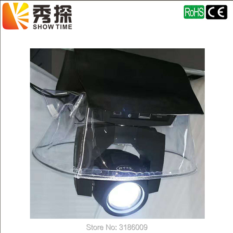 Showtime 10pcs/lot Beam Moving Head Rain Cover Stage Light Rain Snow Coat Waterproof Covers With Transparent Crystal Plastic