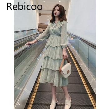 ca84e800f Las mujeres Vestido blanco elegante verde Primavera Verano Vestidos cortos  Vestidos largos vestidos De noche Vestido