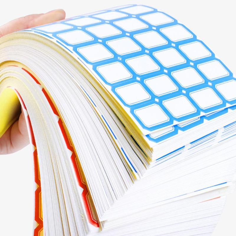 2800pcs Self-Adhesive Label Paper Sticker Blank Label Paper Label Name Classify Blank Stickers Office School Stationery Supplies