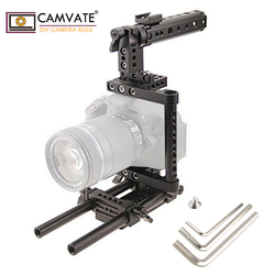 Camera Cage Rig w/Top Handle Tripod Mount Plate  C1136