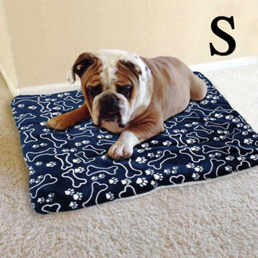 Dog Beds/Mats Large Soft Warm Dog Cat Pet Mat Bed Pad Self Heating Rug Thermal Washable Pillow