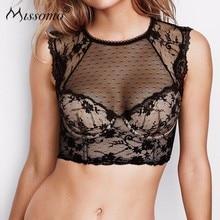 Missomo Lace Bras For Women Sexy VS BH Soft Bralet Modis Push Up Bralette Backless Bud Silk Screen Stitching Underwear