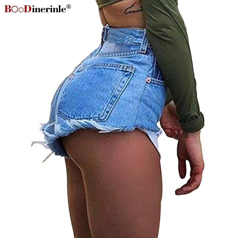 BOoDinerinle High Waist Jeans Shorts Women Summer Zipper Tassel Denim Shorts Women Plus Size Sexy Skinny Jeans Women Streetwear